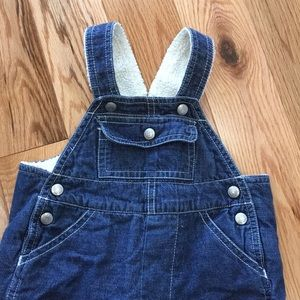 Gap Overalls, 3-6 months, fully lined